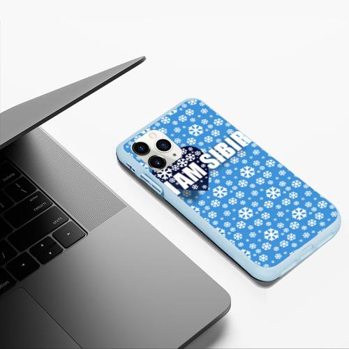 Чехол для iPhone 11 Pro Max матовый Я люблю Сибирь Фото 01