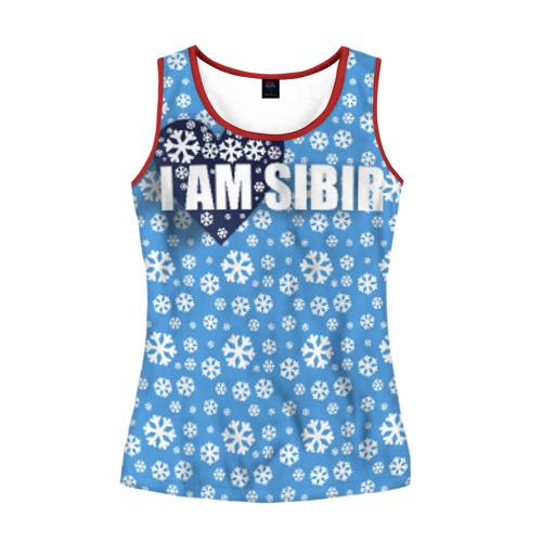 Женская майка 3D Я люблю Сибирь