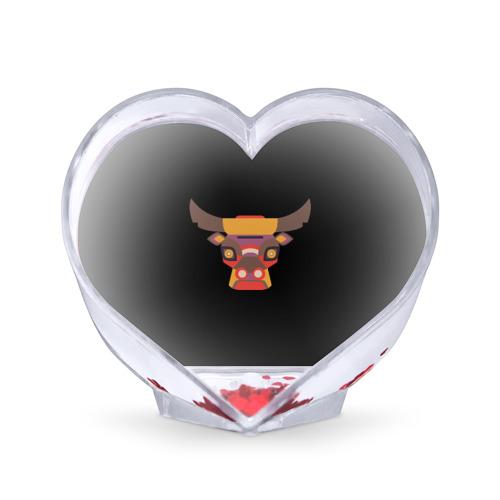 Сувенир Сердце Голова быка от Всемайки