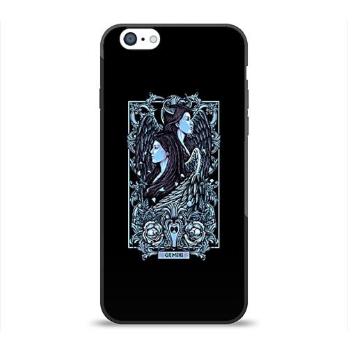 Чехол для Apple iPhone 6 силиконовый глянцевый Близнецы от Всемайки
