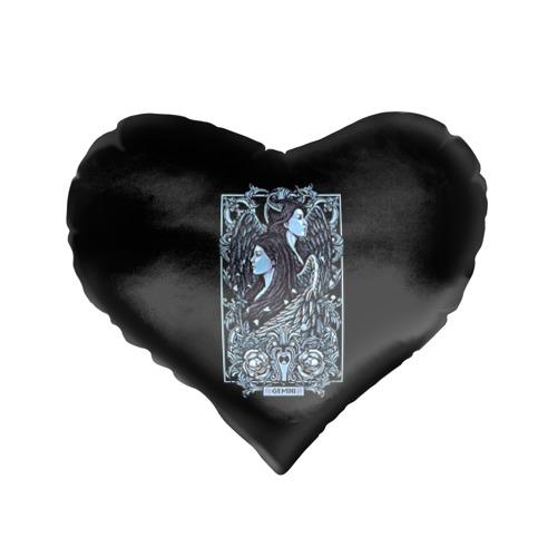 Подушка 3D сердце  Фото 01, Близнецы