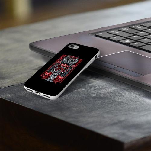 Чехол для Apple iPhone 8 силиконовый глянцевый  Фото 03, Скорпион