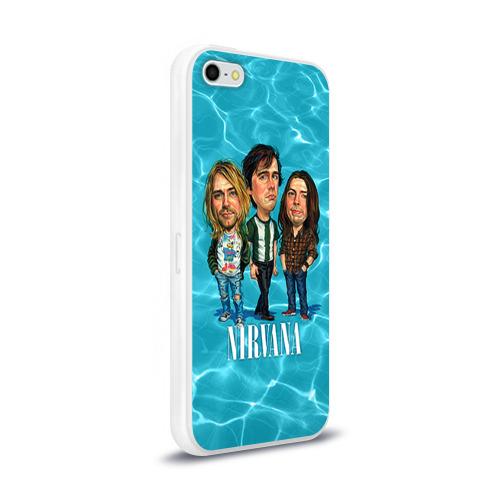 Чехол для Apple iPhone 5/5S силиконовый глянцевый  Фото 02, Шаржи группа Nirvana