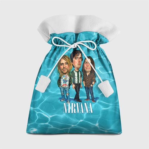 Подарочный 3D мешок Шаржи группа Nirvana