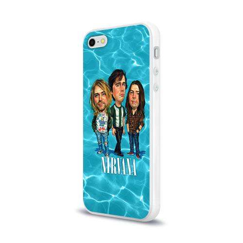 Чехол для Apple iPhone 5/5S силиконовый глянцевый  Фото 03, Шаржи группа Nirvana