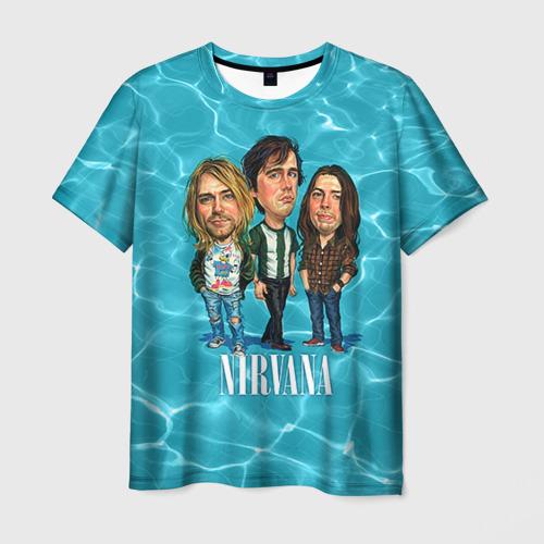 Мужская футболка 3D  Фото 03, Шаржи группа Nirvana