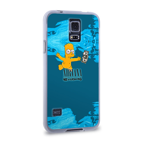 Чехол для Samsung Galaxy S5 силиконовый  Фото 02, Nirvana & Simpson