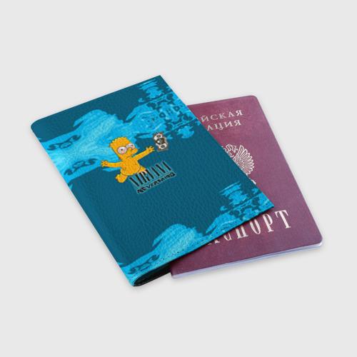 Обложка для паспорта матовая кожа  Фото 03, Nirvana & Simpson