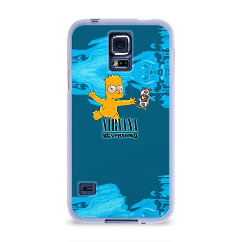 Чехол для Samsung Galaxy S5 силиконовый  Фото 01, Nirvana & Simpson