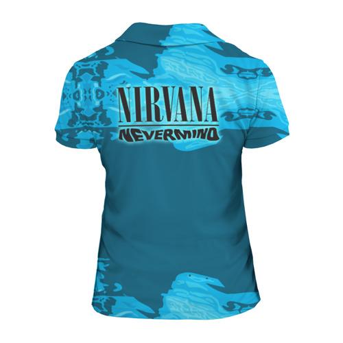 Женская рубашка поло 3D Nirvana & Simpson Фото 01