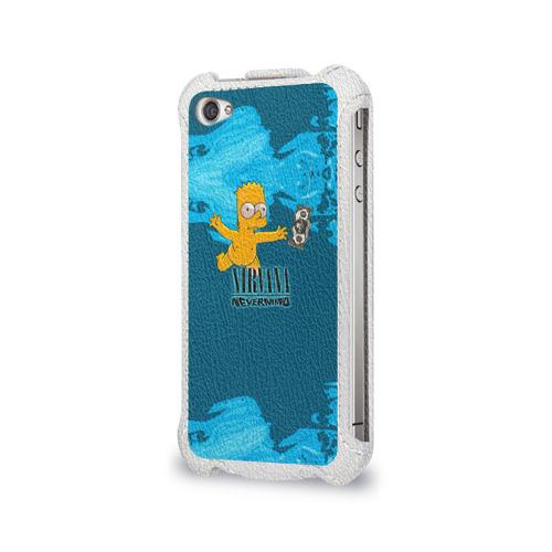 Чехол для Apple iPhone 4/4S flip  Фото 03, Nirvana & Simpson
