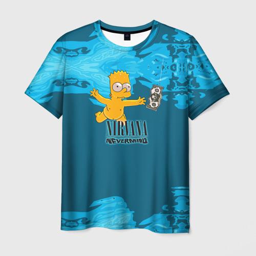 Мужская футболка 3D  Фото 03, Nirvana & Simpson