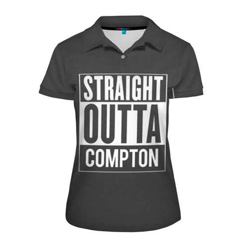 Женская рубашка поло 3D Straight Outta Compton