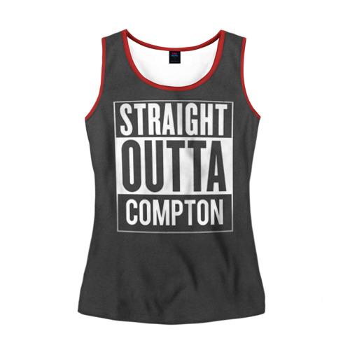Женская майка 3D Straight Outta Compton