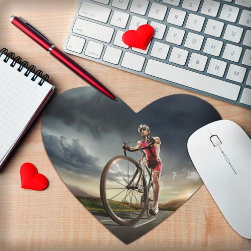 Коврик для мыши сердце  Фото 02, Велогонщик
