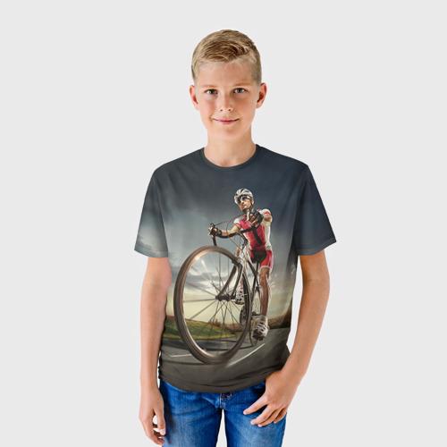Детская футболка 3D  Фото 01, Велогонщик