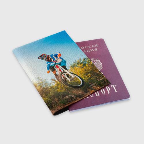 Обложка для паспорта матовая кожа  Фото 03, МТБ