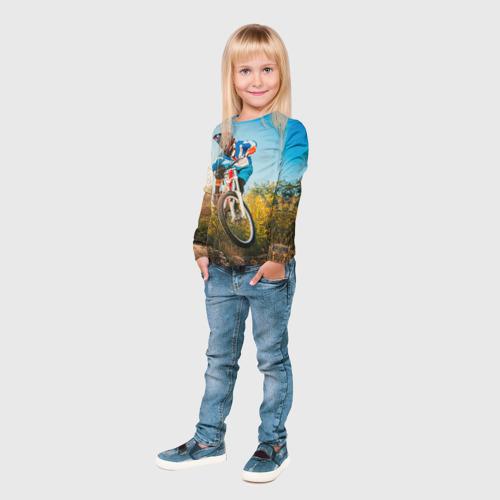Детский лонгслив 3D  Фото 04, МТБ