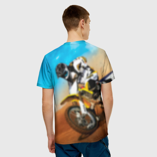 Мужская футболка 3D Эндуро Фото 01