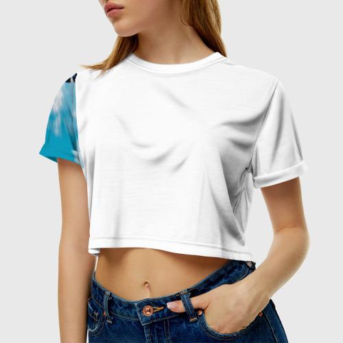 Женская футболка 3D укороченная  Фото 01, Эндуро