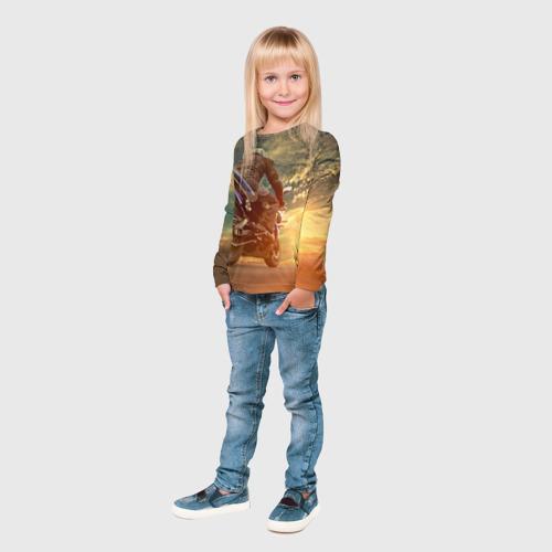 Детский лонгслив 3D  Фото 04, Мото