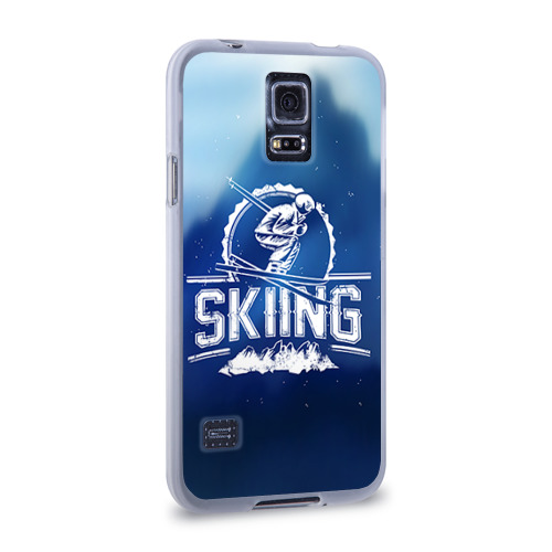 Чехол для Samsung Galaxy S5 силиконовый  Фото 02, Лыжный спорт