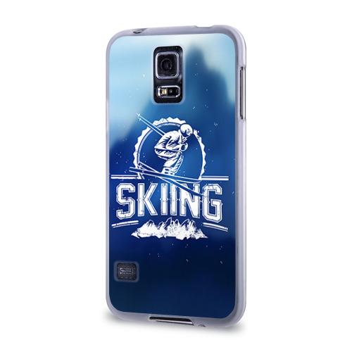Чехол для Samsung Galaxy S5 силиконовый  Фото 03, Лыжный спорт