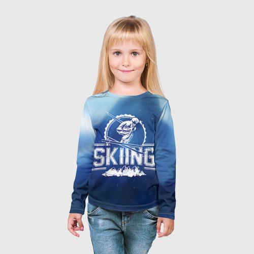 Детский лонгслив 3D  Фото 03, Лыжный спорт