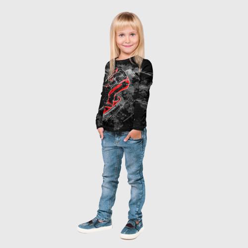Детский лонгслив 3D  Фото 04, Сноубордист