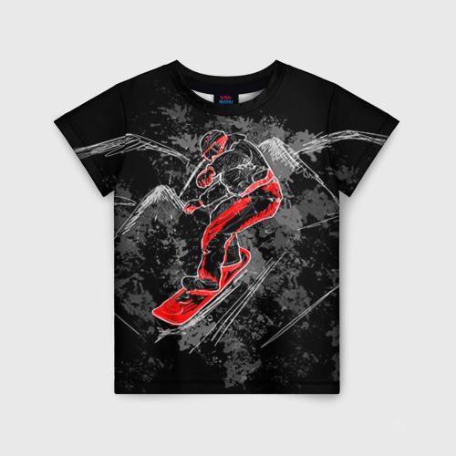 Детская футболка 3D Сноубордист