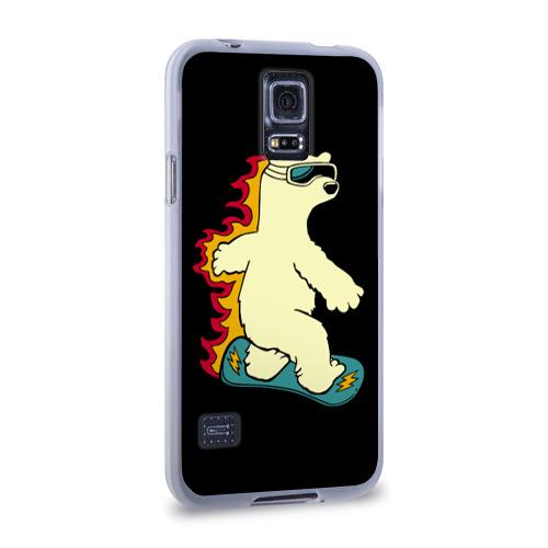 Чехол для Samsung Galaxy S5 силиконовый  Фото 02, Мишка на борде