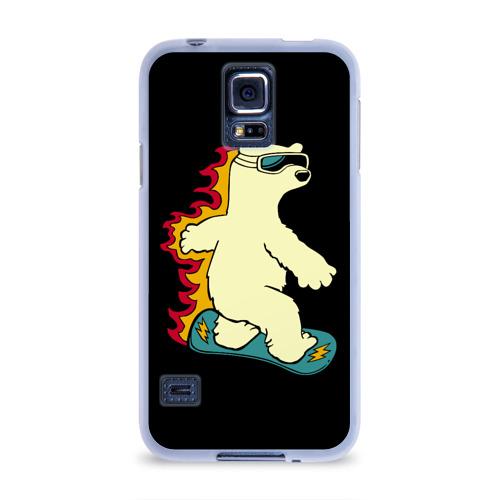 Чехол для Samsung Galaxy S5 силиконовый  Фото 01, Мишка на борде