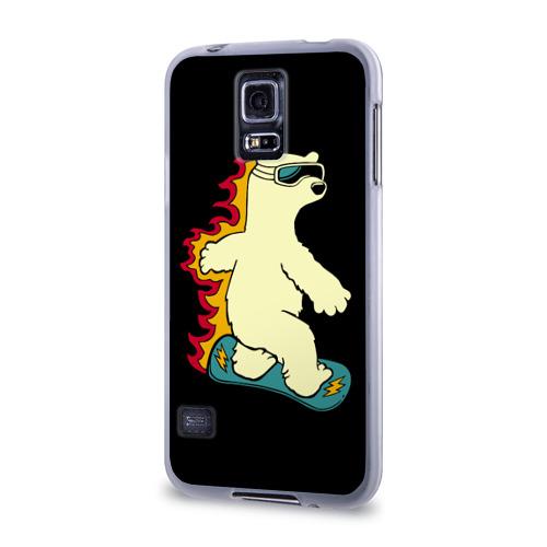 Чехол для Samsung Galaxy S5 силиконовый  Фото 03, Мишка на борде