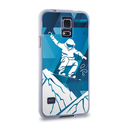 Чехол для Samsung Galaxy S5 силиконовый  Фото 02, Горы и сноубордист
