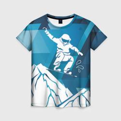 Горы и сноубордист
