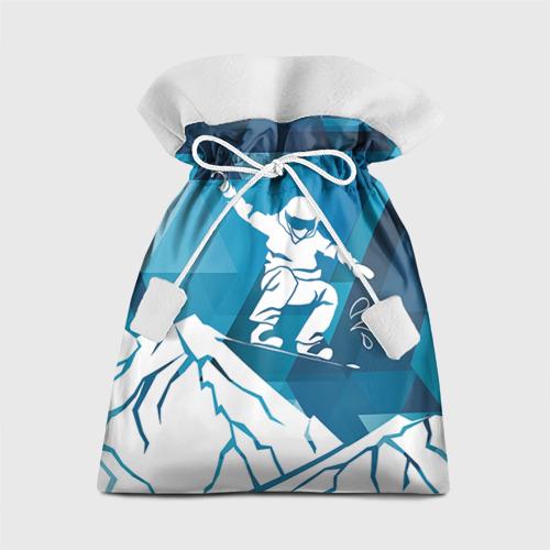 Подарочный 3D мешок Горы и сноубордист