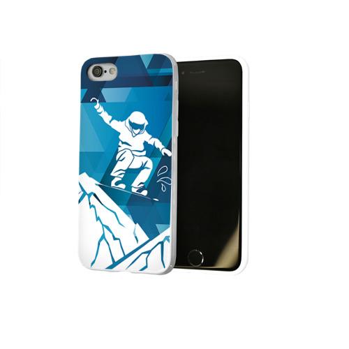 Чехол для Apple iPhone 7/8 soft-touch NEW Горы и сноубордист Фото 01