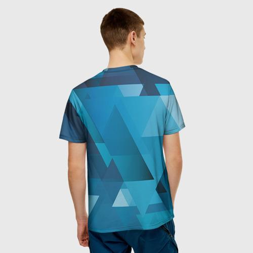 Мужская футболка 3D  Фото 02, Горы и сноубордист