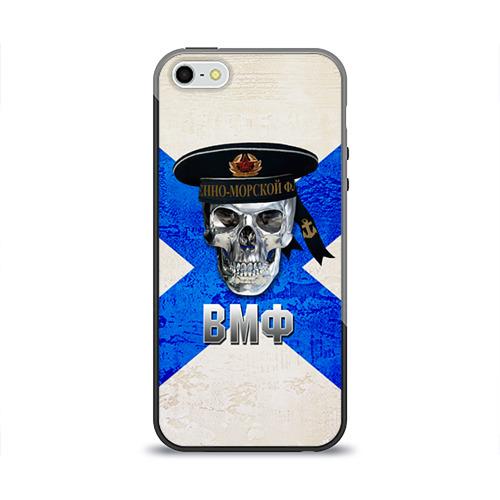 Чехол для Apple iPhone 5/5S силиконовый глянцевый ВМФ от Всемайки