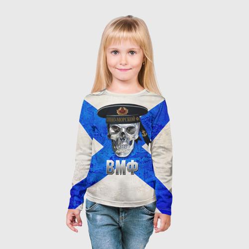 Детский лонгслив 3D  Фото 03, ВМФ
