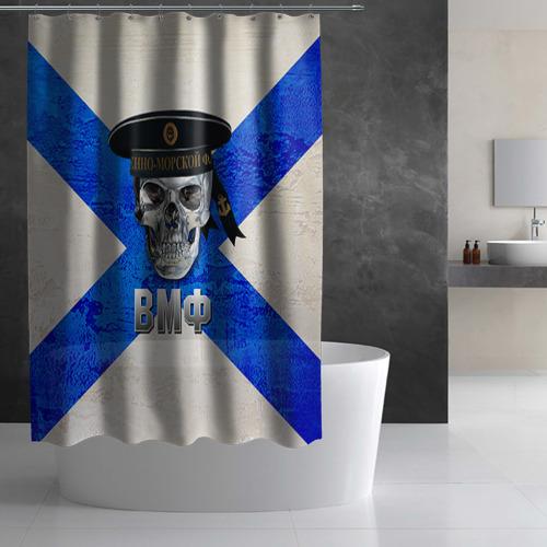 Штора 3D для ванной  Фото 02, ВМФ
