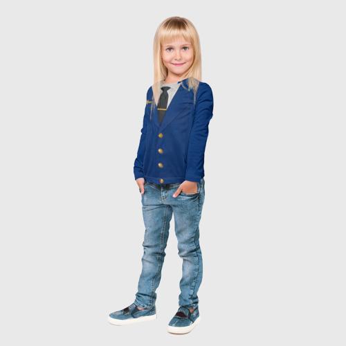 Детский лонгслив 3D  Фото 04, Китель