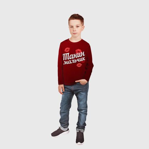 Детский лонгслив 3D Танин мальчик Фото 01