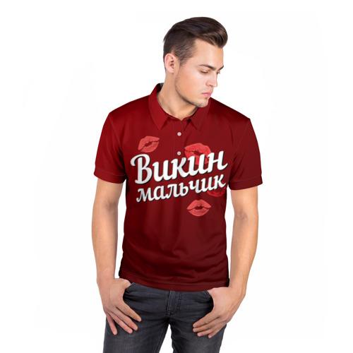 Мужская рубашка поло 3D Викин мальчик Фото 01