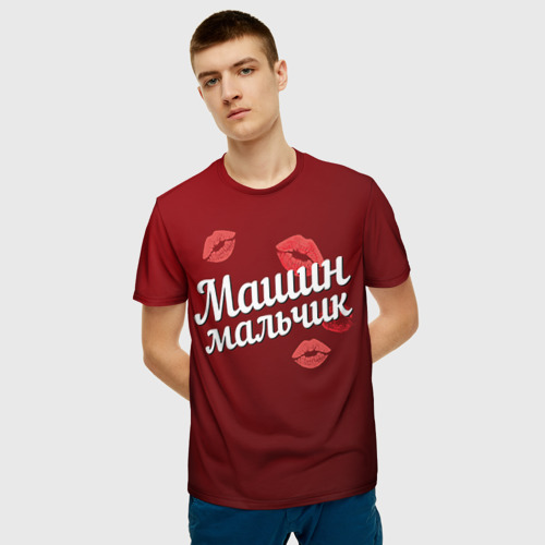 Мужская футболка 3D Машин мальчик Фото 01