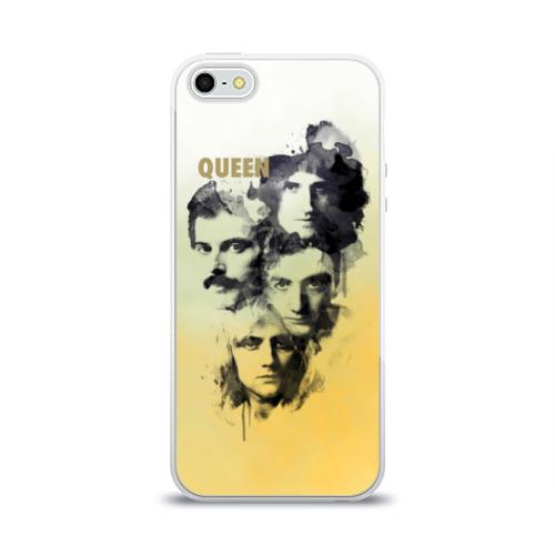 Чехол для Apple iPhone 5/5S силиконовый глянцевый Queen группа Фото 01