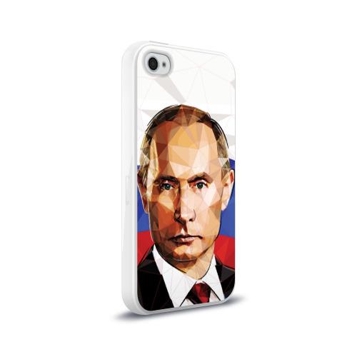Чехол для Apple iPhone 4/4S силиконовый глянцевый  Фото 02, Путин Владимир Владимирович