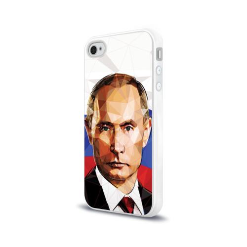 Чехол для Apple iPhone 4/4S силиконовый глянцевый  Фото 03, Путин Владимир Владимирович
