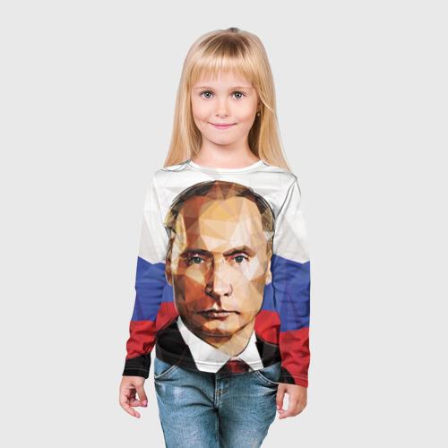 Детский лонгслив 3D  Фото 03, Путин Владимир Владимирович