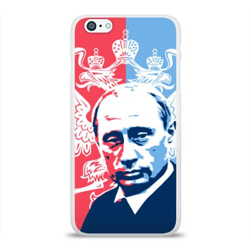 Чехол для Apple iPhone 6Plus/6SPlus силиконовый глянцевый  Фото 01, Путин Владимир Владимирович